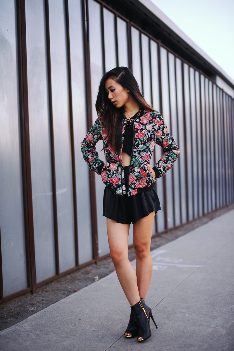 Neon Blush, Lovers + Friends, floral bomber, bomber jackets, cropped, Steve Madden, Zara, Maje