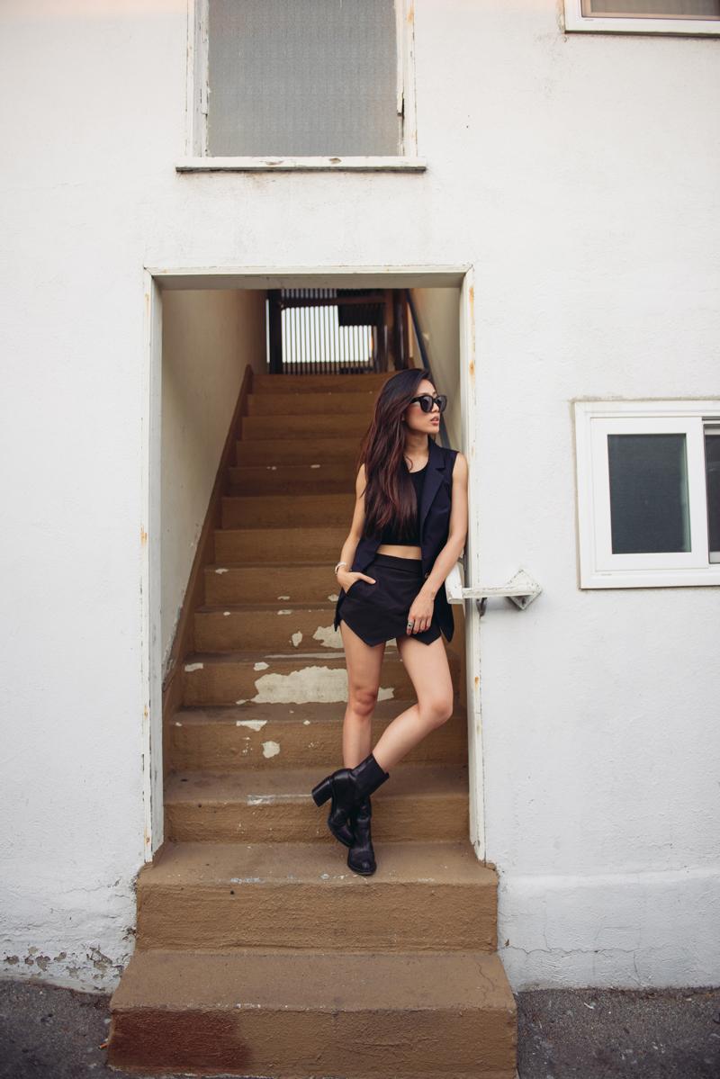 Neon Blush, Jenny Ong, Zara, Cropped, Summer Dress, All Black, Style, Fashion Blogger
