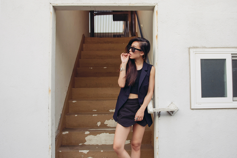 Neon Blush, Jenny Ong, Zara, Cropped, Summer Dress, All Black, Style, Fashion Blogger