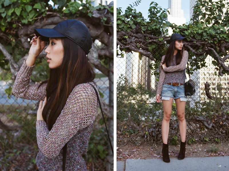 Neon Blush, Jenny Ong, Rag & Bone sweater, boyfriend denim shorts, Newbury boots