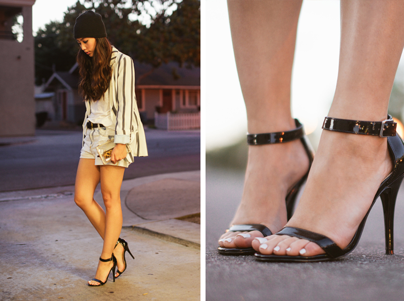 Neon Blush, Steve Madden, Realove sandals, night out, Zara, patent leather