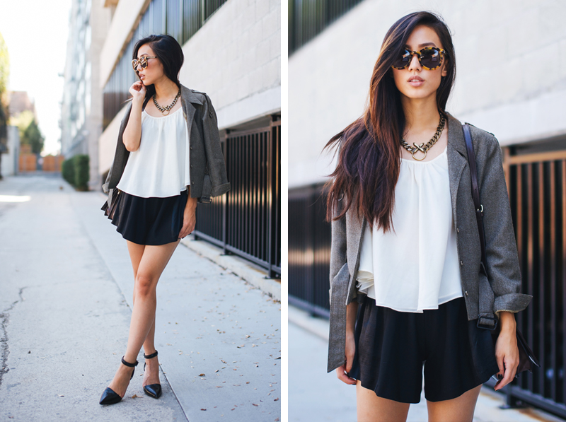Neon Blush, Jenny Ong, fashion blog, Lovers + Friends, Maje brand, Alexander Wang, Karen Walker sunglasses