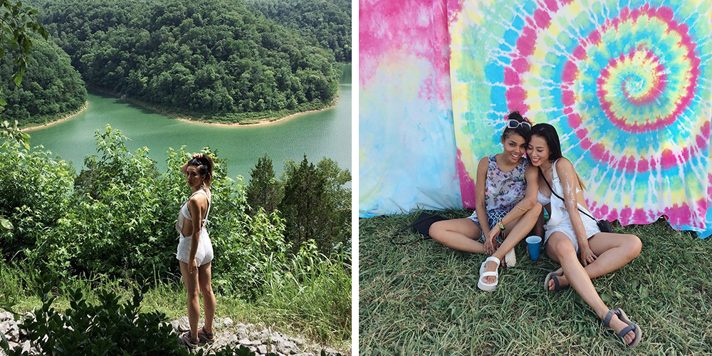 Neon Blush, Bonnaroo music festival, Manchester Tennessee, Teva sandals, Style Stalker overalls, Smithville, Tennessee travel, travel photos