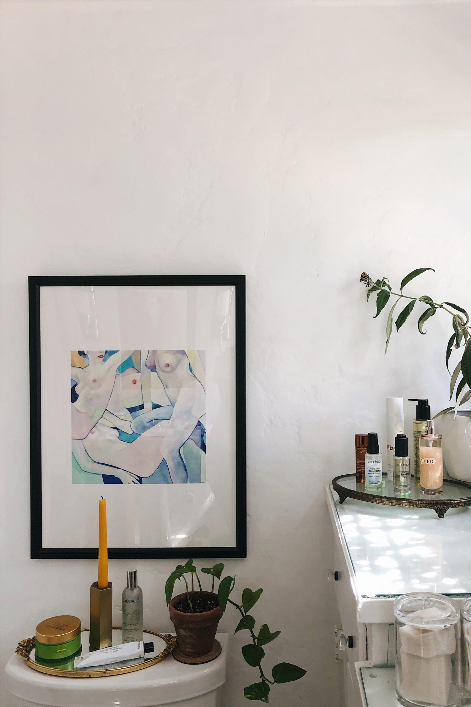 Neon Blush, Society6, artwork, prints and frames, framed artwork, interior design, interiors, LA, Los Angeles homes, home and design, Jenny Ong, plants, plant addiction